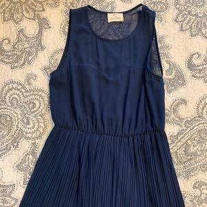 Pins & Needles Mesh Top Navy Dress